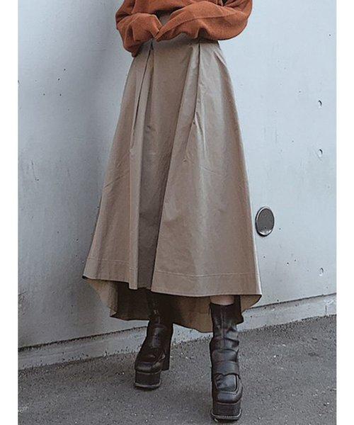 ワイドベルトボリュームスカート