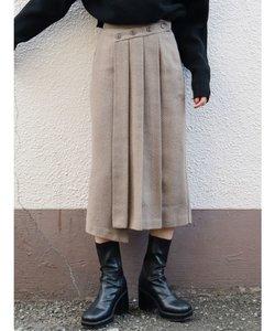フロントボタンアシンメトリースカート