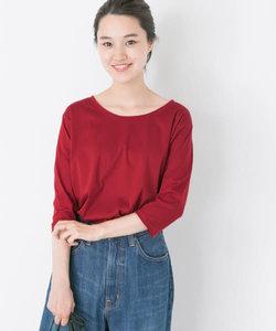 60/-シルケットスムース7分袖Tシャツ