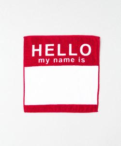 SECOND LAB. HELLO HAND TOWEL