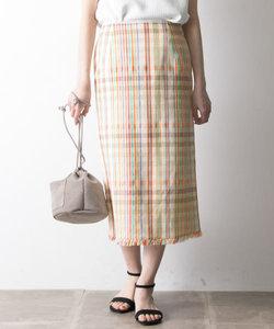MKマルチチェックタイトスカート