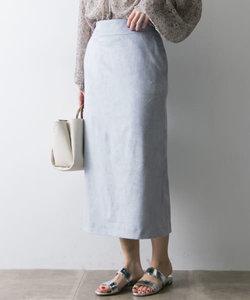 フェイクスエードカラーロングスカート