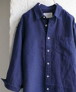 Linen 7分袖 Shirts