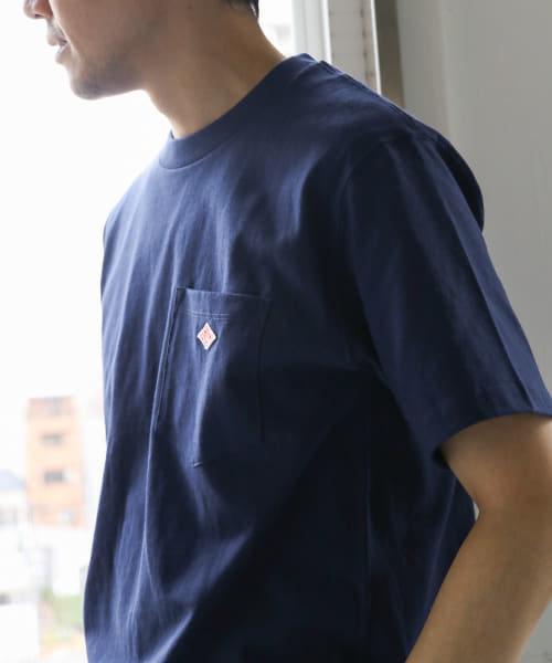 DANTON クルーネック半袖ポケットTシャツ