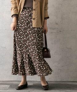 autumn flower print skirt