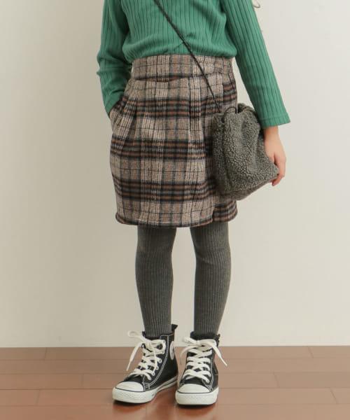 チェックコクーンスカート(KIDS)