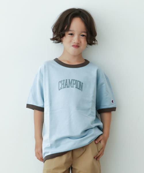 Champion×DOORS インレイリンガーT-SHIRTS(KIDS)