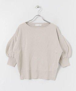 ボリュームスリーブセーター(5分袖)