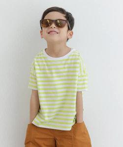 オーガニックボーダー半袖Tシャツ(KIDS)