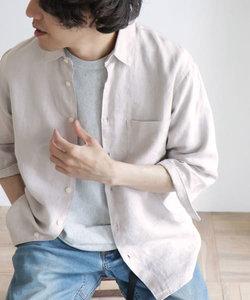 Linen 7分袖Shirts