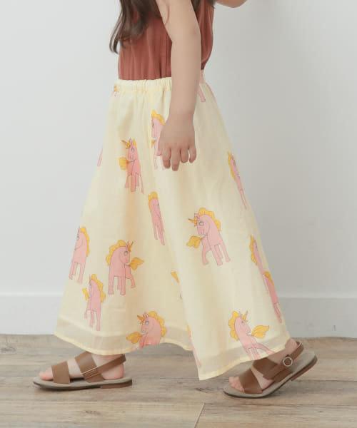 mini rodini Unicorns woven long skirt