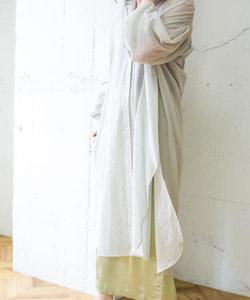 【WEB限定】シアーロングシャツワンピース