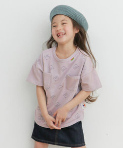 【別注】mammoth×DOORS 総柄ワイドポケTシャツ(KIDS)