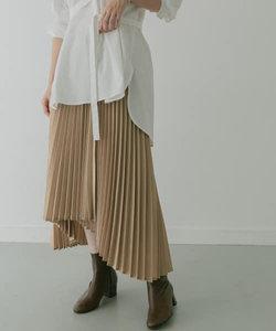 KBF+ アシメプリーツスカート