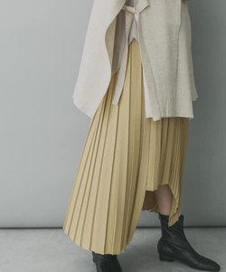 KBF+ アシメランダムプリーツスカート