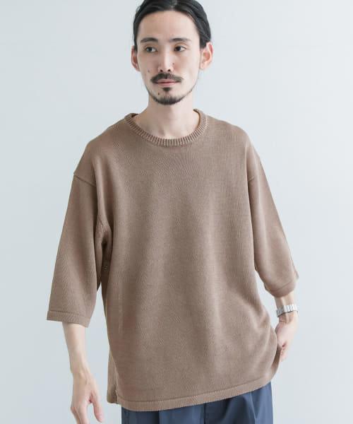 リネンタッチ ドライコットンニットTシャツ