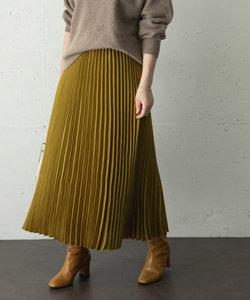 スエードロングプリーツスカート
