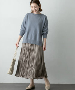 【WEB/一部店舗限定】エアリーニット×プリーツスカートセット