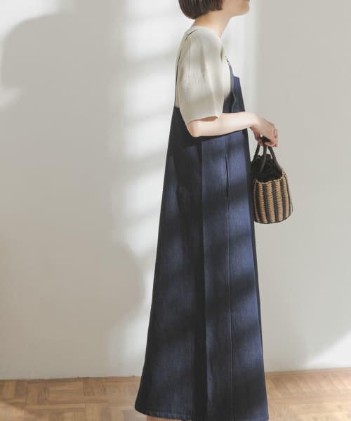 【WEB限定】FORK&SPOON デニムサロペットスカート