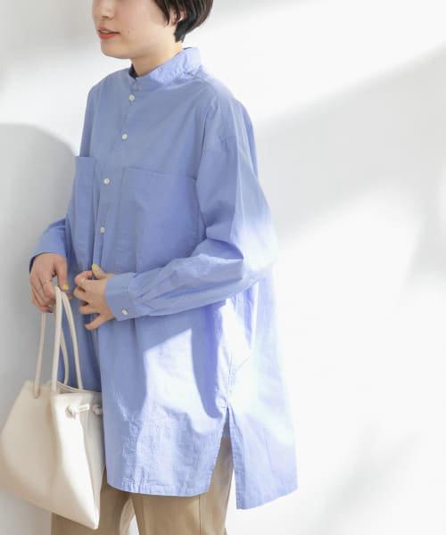 FORK&SPOON スタンドカラービッグシャツ