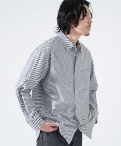 ストライプレギュラーカラーワイドシャツ