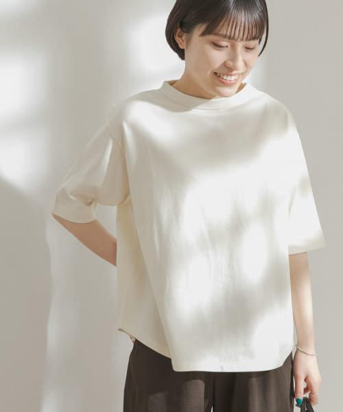 FORK&SPOON オーガニックコットンボトルネックTシャツ