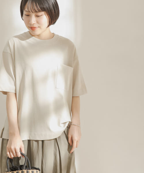 FORK&SPOON 強撚天竺カラーステッチ半袖Tシャツ