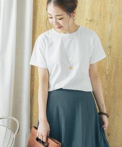 【一部WEB限定カラー】SUVINコットンクルーネックTシャツ
