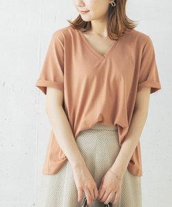【WEB限定】UVカットドライタッチVネックフレアTシャツ
