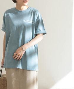 FORK&SPOON コットンリネンロゴプリントTシャツ