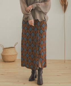 【WEB限定】アフリカンプリントラップスカート