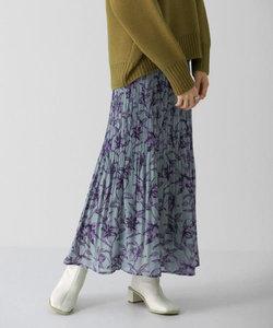 【WEB/一部店舗限定】フラワープリントプリーツスカート