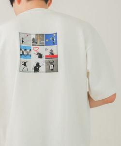 【別注】バンクシーグラフィックアートTシャツ B
