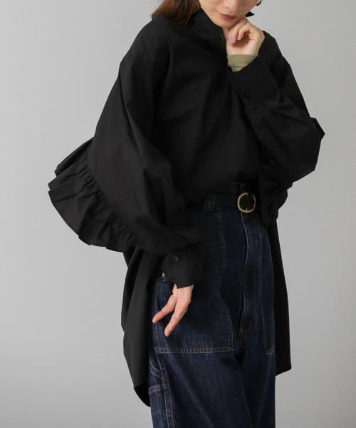 BACKフリルオーバーシャツ