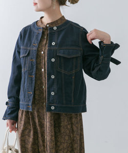 【WEB限定】デザインスリーブノーカラーGジャン