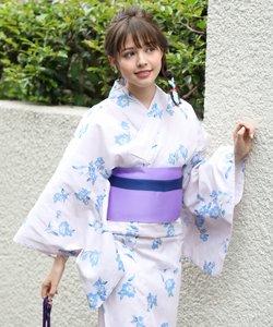 【WEB限定】水彩花柄浴衣(4点セット)