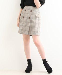 ☆チェック柄フラップAラインスカート