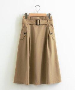 フラップボタンフレアスカート