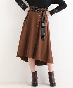 柄ベルトラップスカート