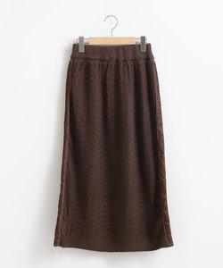 ラインニットスカート