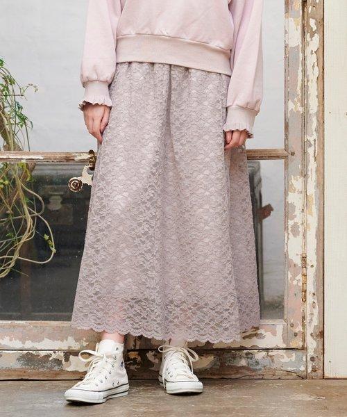 フェミニンレーススカート