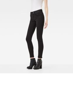 Lynn d-Mid Super Skinny Wmn / Yield black ultimate stretch denim