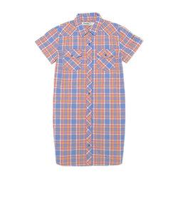半袖チェックシャツワンピース