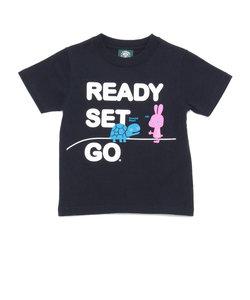 キッズ ウサギとカメTシャツ