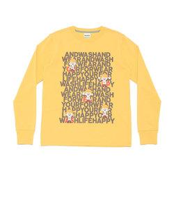 AND WASH長袖Tシャツ