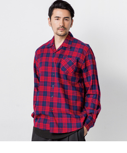 【LAB】OPEN NECKED CHECK SHIRT / 開襟チェックシャツ