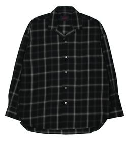 【HAMNETT】 OPEN COLLAR OVER SHIRT/オープンカラーオーバーシャツ