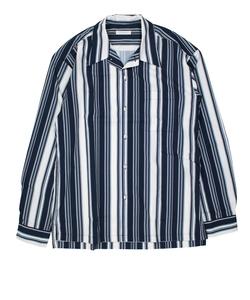 【LAB】 MULTI STRIPE OPEN‐NECKED SHIRT / マルチストライプ開襟シャツ