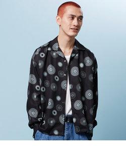 【HAMNETT】 CIRCLE PRINT SHIRT / サイクルプリントシャツ / シャツ