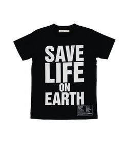 【KEH】 SAVE LIFE ON EARTH(WOMENS) / メッセージT